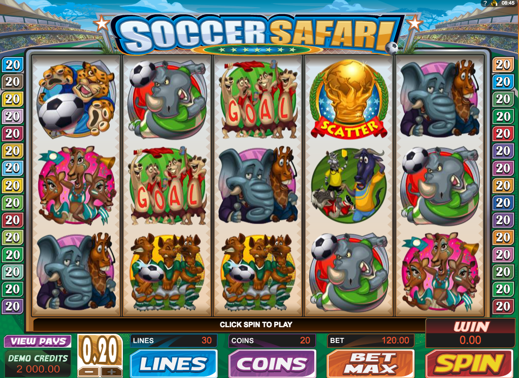 Soccer Safari von Microgaming